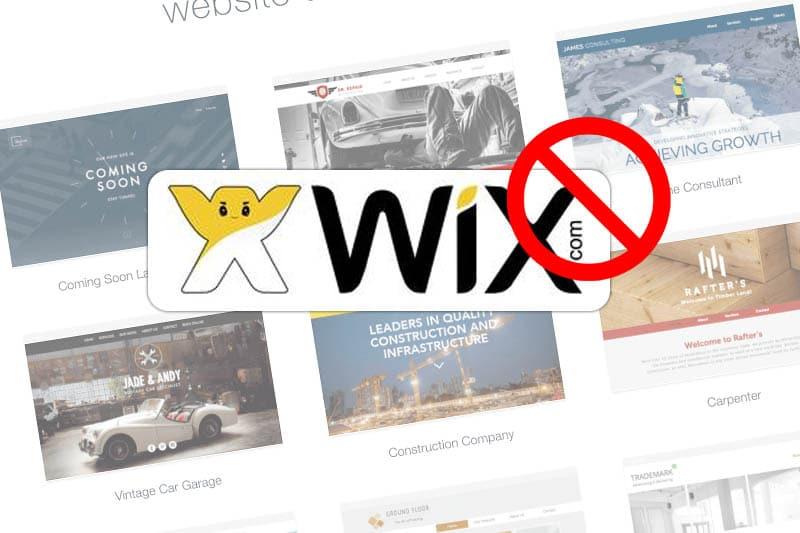 5 redenen om NIET bij Wix.com een website te maken